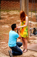 REAL marriage Proposal Photography + NC State Campus Raleigh, NC + downtown + 6