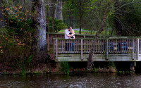 Engagement Photography + Raleigh, NC + Yates Mill Park + waterside dock