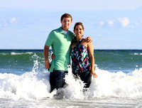 Surf City, NC + Engagement photography + Topsail Island, NC