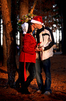 Christmas themed + Engagement photography + Raleigh NC