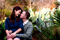 Engagement Photography + Raleigh, NC + JC Raulston Arboretum+cactus