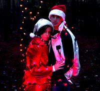 Christmas Themed + engagement photography session + lights + bikes + Harris Lake Park+ Raleigh, NC+1