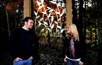 Colorful fall engagement photography at the JC Raulston Arboretum