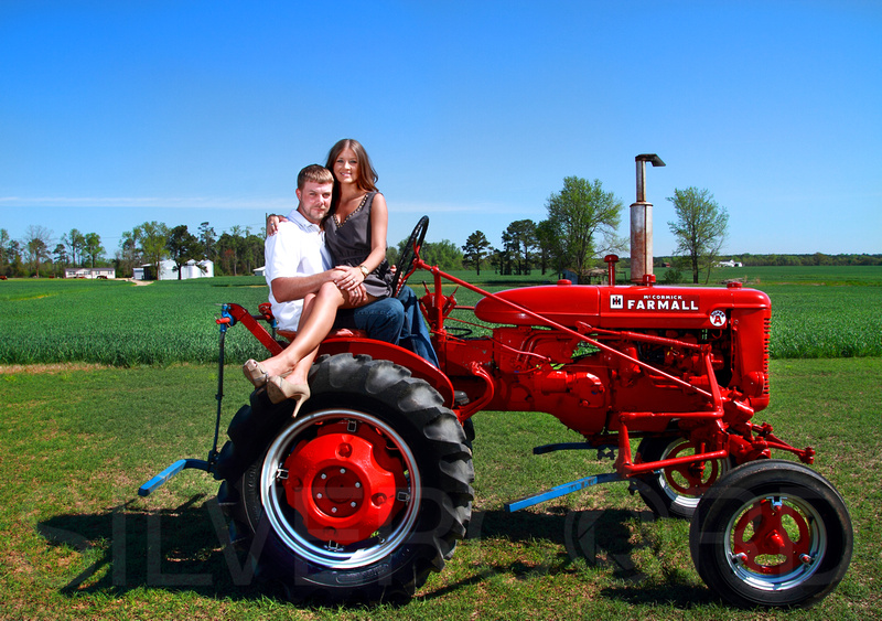 """red tractor engagement photography"""