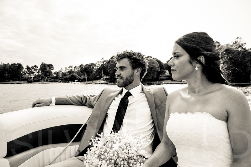 Outdoor Raleigh wedding photography by Silvercord Event Photography.