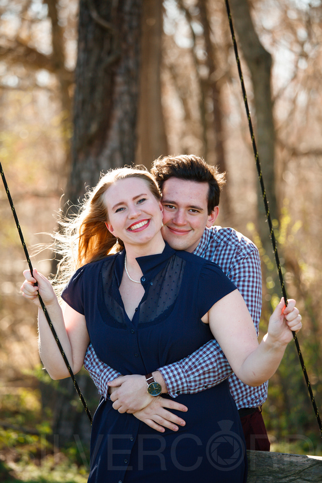 Engagement photography at Yates Mill Park and Engagement photography in Fuquay Varina at antique shop Bostic Wilson by Silvercord Event Photography-5