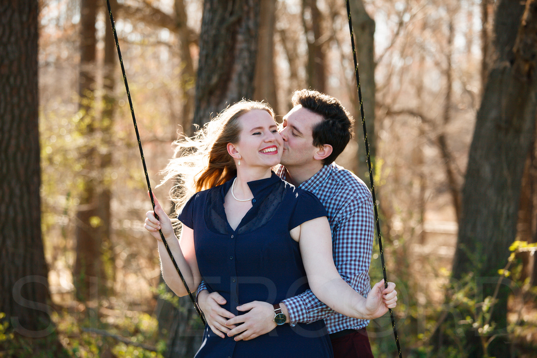 Engagement photography at Yates Mill Park and Engagement photography in Fuquay Varina at antique shop Bostic Wilson by Silvercord Event Photography