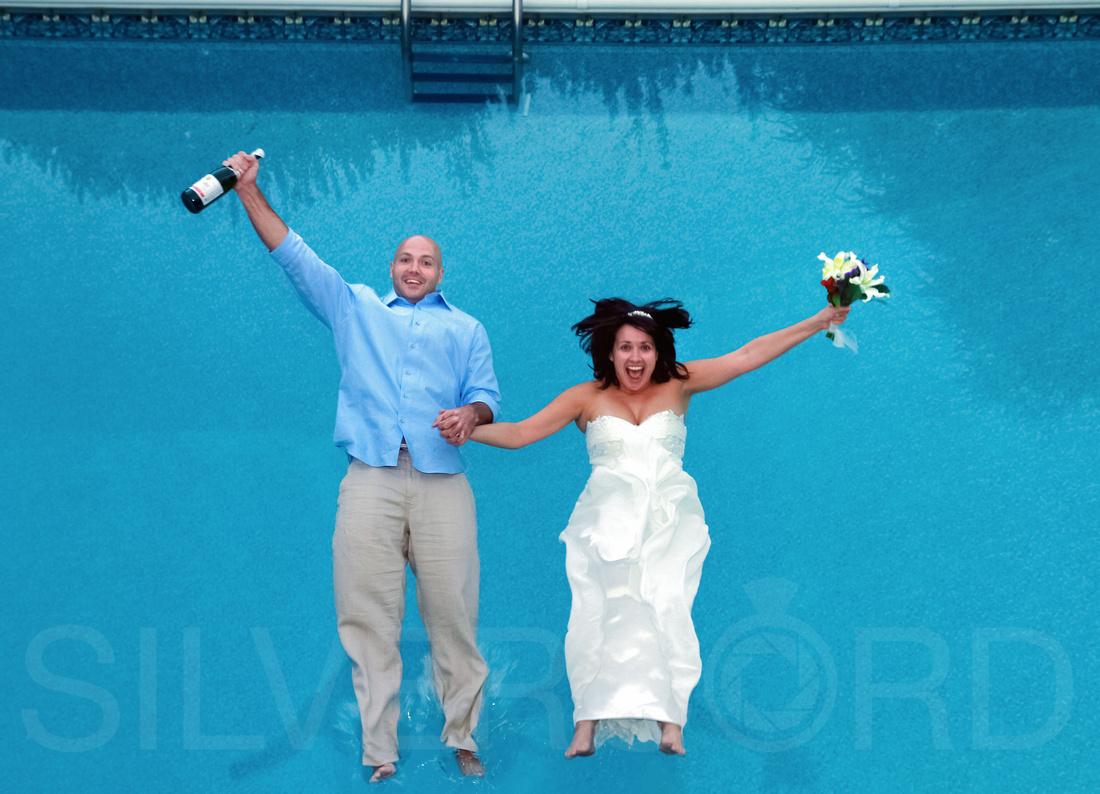 The Plunge wedding photography portrait