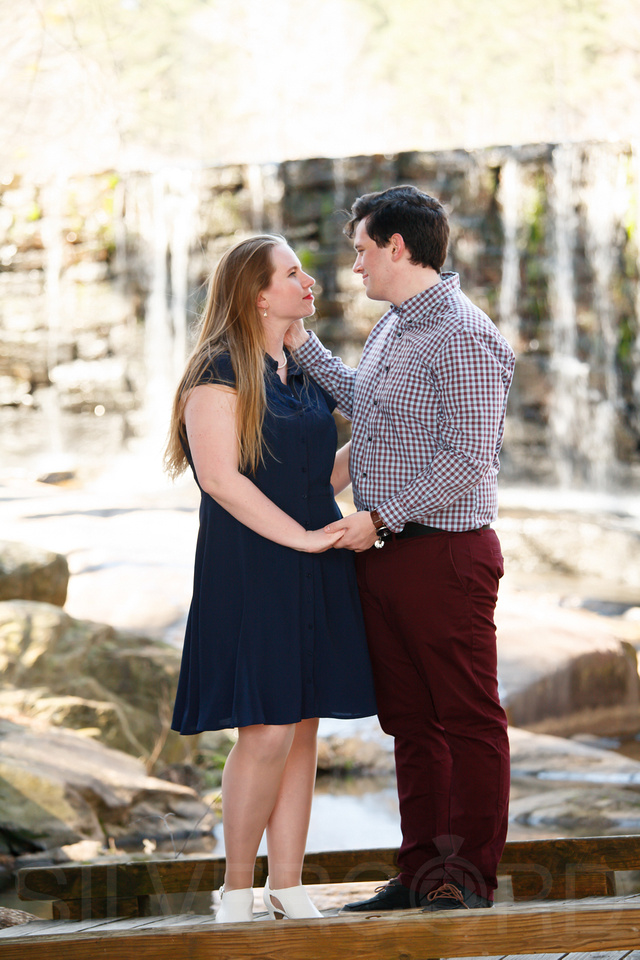 Engagement photography at Yates Mill Park and Engagement photography in Fuquay Varina at antique shop Bostic Wilson by Silvercord Event Photography-15