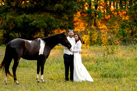 Clinton NC wedding photography portrait with a horse