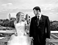 Downtown Raleigh, nc wedding photography portrait