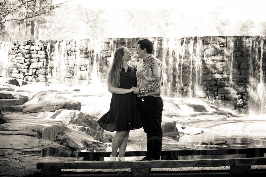 Engagement photography at Yates Mill Park and Engagement photography in Fuquay Varina at antique shop Bostic Wilson by Silvercord Event Photography-13