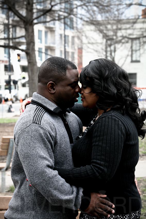 Downtown Raleigh and  Moore Sq. Engagement photos