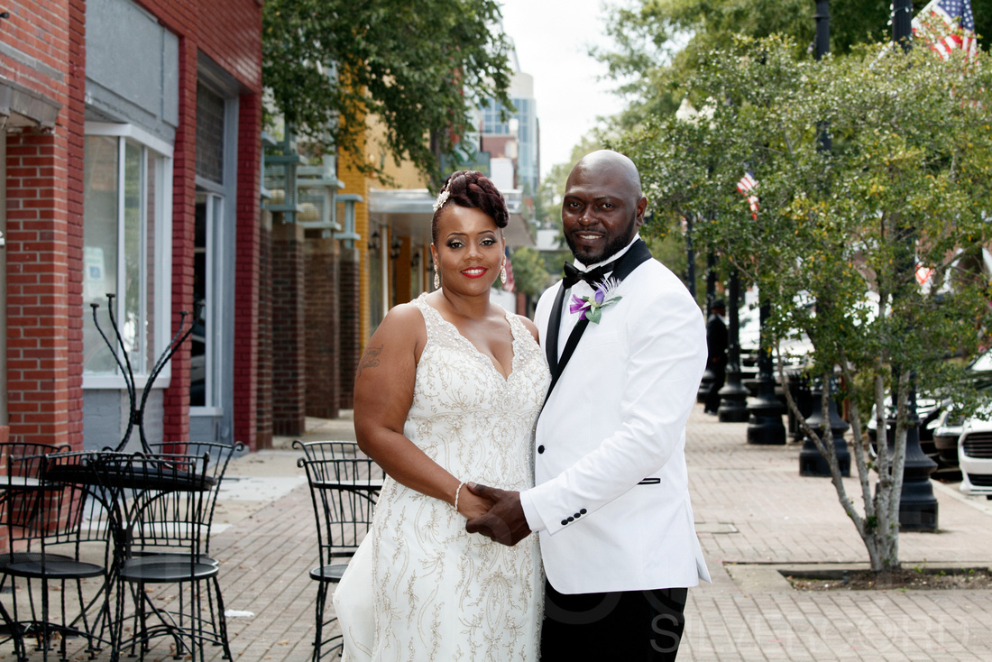 Glam Themed Engagement Photography Session To Their Sweet Wedding Day At Studio 210 And Reception The Capital Room In Downtown Fayetteville NC