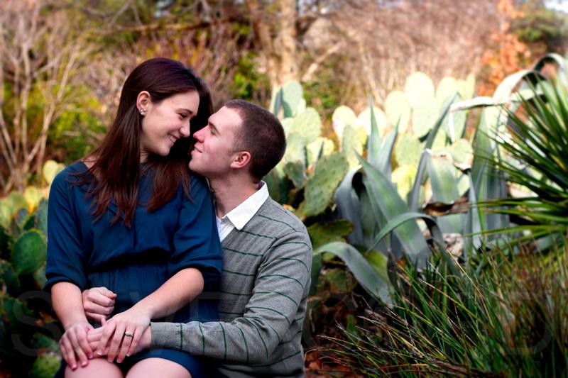 Engagement Photography + Raleigh, NC + JC Raulston Arboretum+cactus